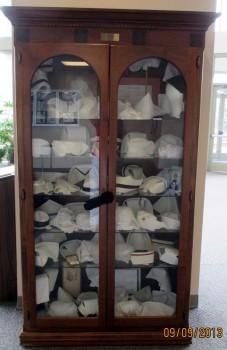 Nursing Cap case in the Atrium of LaSalle University